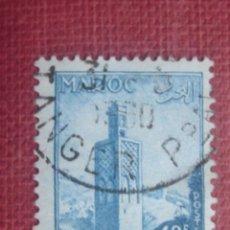 Sellos: MARRUECOS FRANCÉS 1955. MINARETE DE CHELLA EN RABAT. YVERT 353. MATASELLOS DE TÁNGER. Lote 128819775