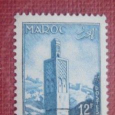 Sellos: MARRUECOS FRANCÉS 1955. MINARETE DE CHELLA EN RABAT. YVERT 353. NUEVO SIN GOMA. Lote 128819919