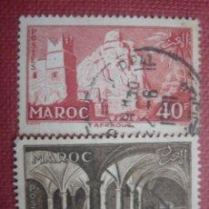 Sellos: MARRUECOS FRANCÉS 1955. YVERT 359 Y 360. USADOS.. Lote 128824175