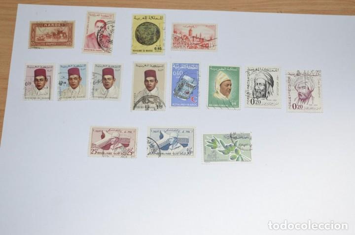15 SELLOS DE MARRUECOS USADOS (Sellos - Extranjero - África - Marruecos)