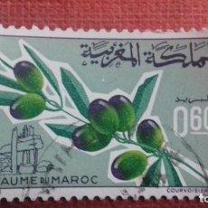 Sellos: MARRUECOS 1966. YVERT 510. RAMA DE OLIVO CON ACEITUNAS. USADO. . Lote 142821286