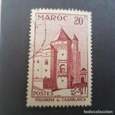 Sellos: MAROC,MARRUECOS FRANCÉS,1955,PALACIO DE JUSTICIA,CASABLANCA, SCOTT 322, YVERT 356,USADO,(LOTE AG). Lote 156526414