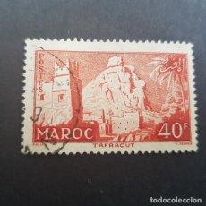 Sellos: MAROC,MARRUECOS FRANCÉS,1955,PUEBLO DE TAFRAOUT, SCOTT 325, YVERT 359,USADO,(LOTE AG). Lote 156526994