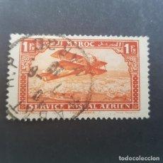 Sellos: MAROC,MARRUECOS FRANCÉS,1922-1927 BIPLANO SOBRE CASABLANCA AÉREO SCOTT C7 YVERT PA7, USADO,(LOTE AG). Lote 156533354