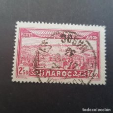 Sellos: MAROC,MARRUECOS FRANCÉS,1933 RABAT Y TORRE DE HASSAN AÉREO SCOTT C17 YVERT PA37, USADO,(LOTE AG). Lote 156537322