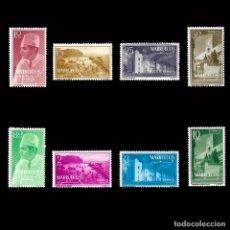 Sellos: MARRUECOS. REINO INDEPENDIENTE.ZONA NORTE.1956. TIPOS DIVERSOS.SERIE COMPLETA.NUEVO**EDIFIL Nº1-8. Lote 157991602