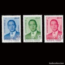 Selos: MARRUECOS. REINO INDEPENDIENTEZONA NORTE.1957. MOLAY HASSAN.SERIE COMPLETA.NUEVO**EDIFIL Nº24-26.. Lote 158119626