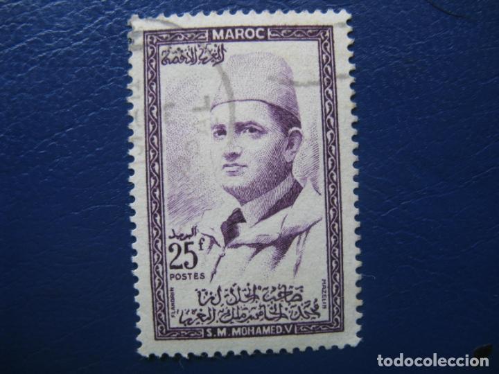 MARRUECOS, 1956 MOHAMED V, YVERT 365 (Sellos - Extranjero - África - Marruecos)