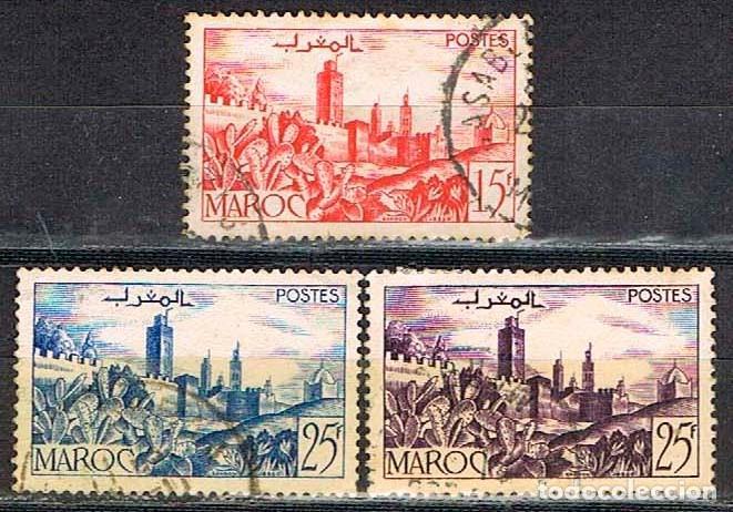 MARRUECOS (COLONIA FRANCESA) IVERT Nº 262 A - 265 Y 265 A -ALMENAS, USADOS (Sellos - Extranjero - África - Marruecos)