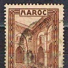 Sellos: MARRUECOS (COLONIA FRANCESA) IVERT Nº 143, MEDERSA EL AHARINE (FEZ), USADO. Lote 168687972