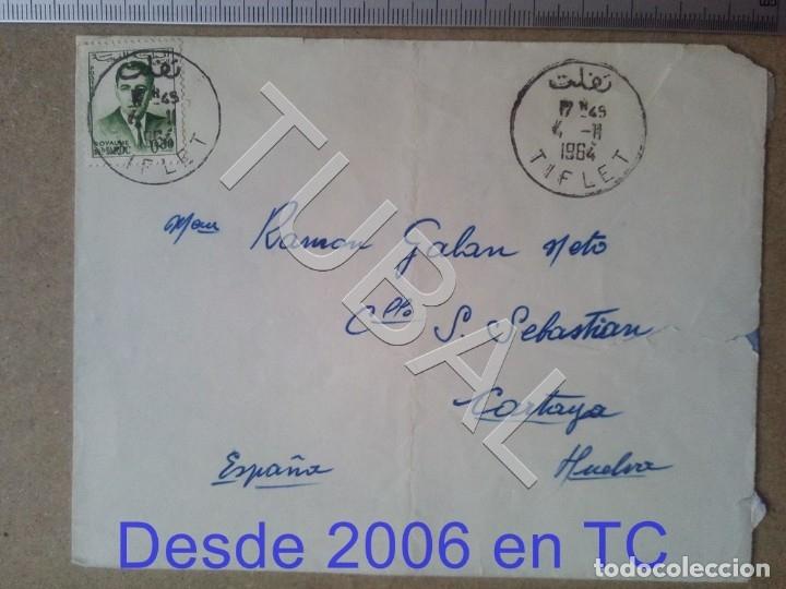 TUBAL CASABLANCA CARTAYA 1964 TIFLET SOBRE CARTA ENVÍO 2019 70 CTMS T1 (Sellos - Extranjero - África - Marruecos)