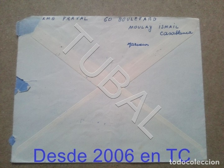 Sellos: TUBAL CASABLANCA CARTAYA 1964 TIFLET SOBRE CARTA ENVÍO 2019 70 CTMS T1 - Foto 2 - 179028528
