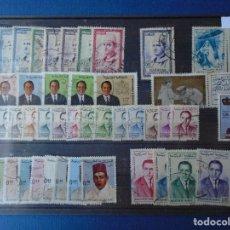 Sellos: LOTE DE 42 SELLOS DE MARRUECOS INDEPENDIENTE. Lote 180091301