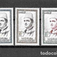 Sellos: MARRUECOS,MOHAMED V,YVERT 362-364,NUEVOS,MNH**. Lote 181443175