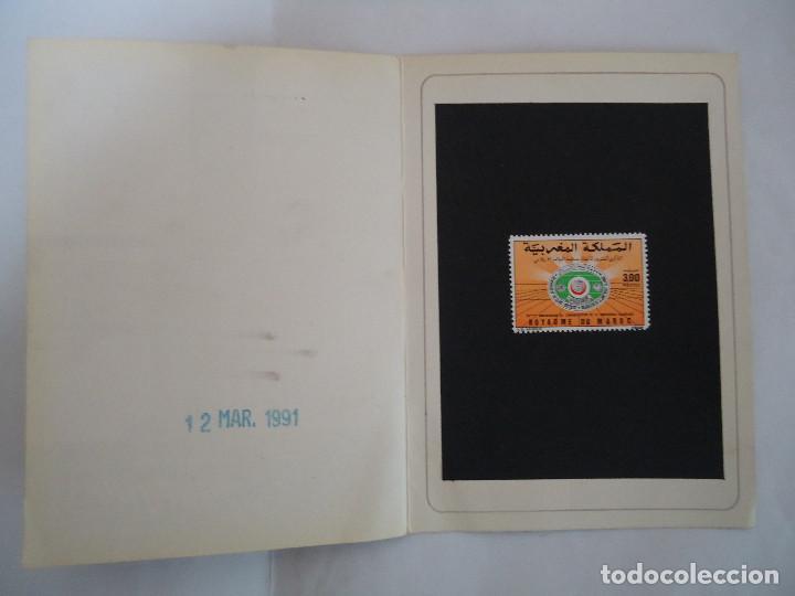 Sellos: PRESENTACION SELLO ORIGINAL DE FOURNIER DE SELLO DE MARRUECOS. AÑO 1991 .RARO - Foto 2 - 190426747