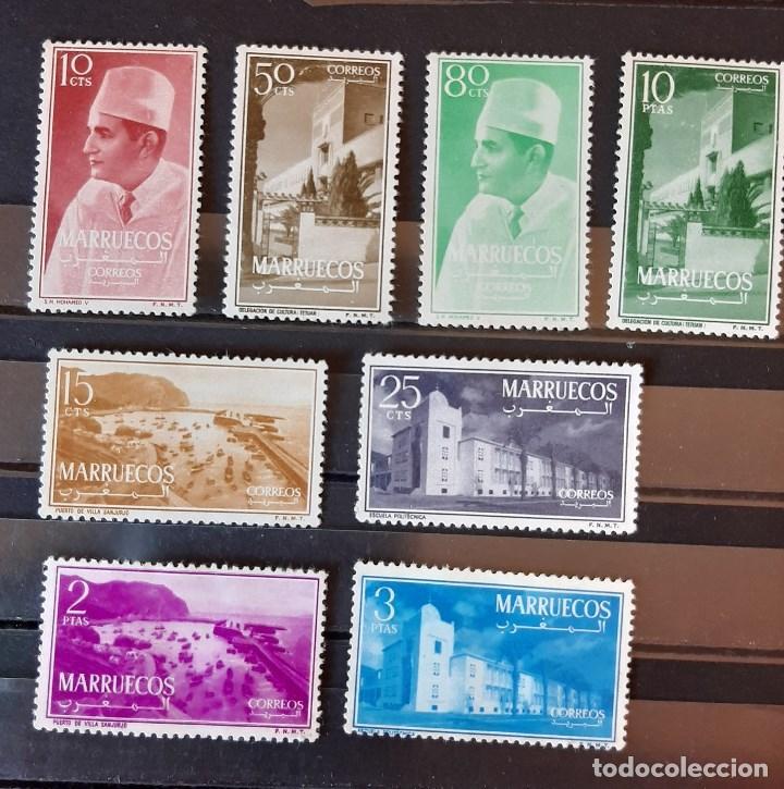 SELLOS MARRUECOS - 1956 - ED. 1/8 - MARRUECOS REINO INDEPENDIENTE - /*/**/ COMPLETA (Sellos - Extranjero - África - Marruecos)