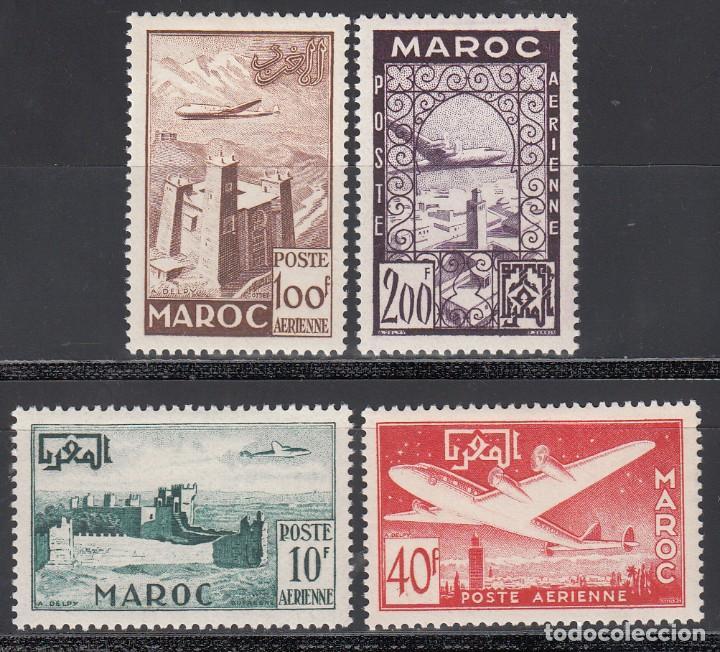 MARRUECOS, AÉREO 1952 YVERT Nº 85 / 88 /*/ (Sellos - Extranjero - África - Marruecos)