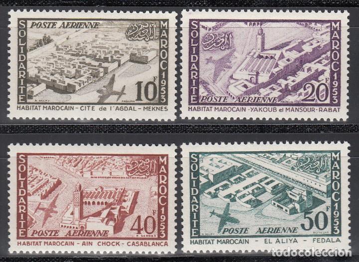 MARRUECOS, AÉREO 1954 YVERT Nº 94 / 97 /*/ (Sellos - Extranjero - África - Marruecos)