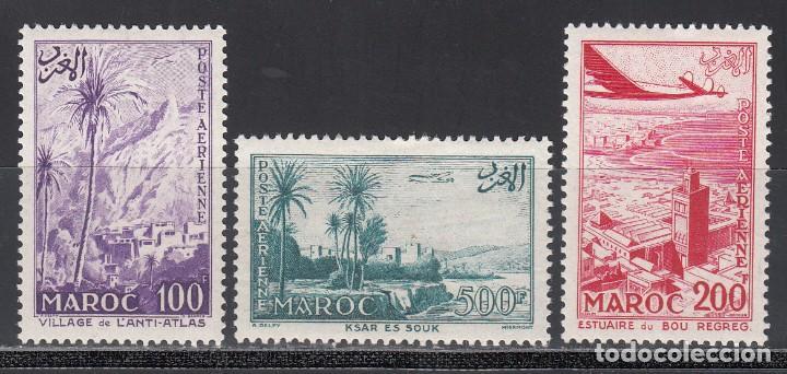 MARRUECOS, AÉREO 1955 YVERT Nº 100 / 102 /*/ (Sellos - Extranjero - África - Marruecos)