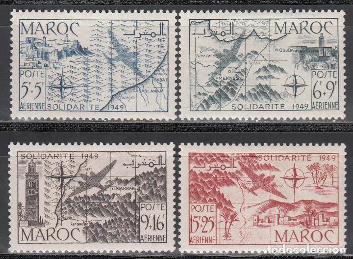 MARRUECOS, AÉREO 1950 YVERT Nº 75 / 78 /*/ (Sellos - Extranjero - África - Marruecos)