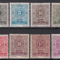 Sellos: MARRUECOS, TASA 1917-26 YVERT Nº 27 / 34 /*/ . Lote 195108516