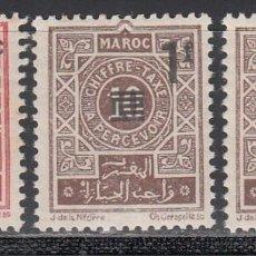 Sellos: MARRUECOS, TASA 1944 YVERT Nº 46 / 48 /*/ . Lote 195109033