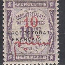 Sellos: MARRUECOS, TASAS 1915 YVERT Nº 24 /*/ . Lote 195787322
