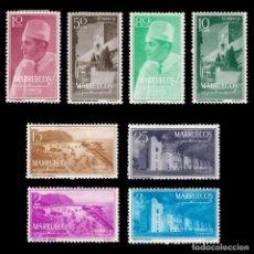 Selos: MARRUECOS.1956.TIPOS DIVERSOS.SERIE NUEVO*.EDIFIL 1-8.. Lote 197161103