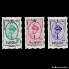 Sellos: 1957. XXX.ANV MOHAMED V.SERIE.NUEVO*EDIFIL 27-29.. Lote 262515260