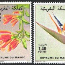 Sellos: MARRUECOS, 1983 YVERT Nº 947 / 948 /**/, FLORES . Lote 199434128