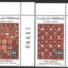 Sellos: MARRUECOS, 1983 YVERT Nº 958 / 959 /**/, ALFOMBRA ZEMMOURI. Lote 199434441