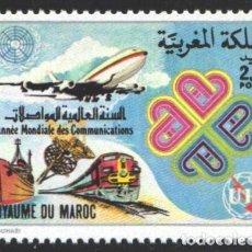 Sellos: MARRUECOS, 1983 YVERT Nº 960 /**/, AÑO MUNDIAL DE LAS TELECOMUNICACIONES. Lote 199434472