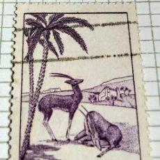 Sellos: SELLO DE MARRUECOS 1939 GAZELLE (GAZELLA SP.) 70C. Lote 202379260