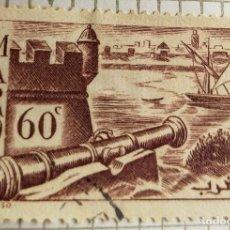 Sellos: SELLO DE MARRUECOS 1940 WALLS OF SALÉ 60C. Lote 202475172