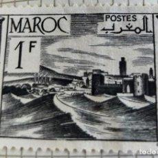 Sellos: SELLO DE MARRUECOS 1947 FORTRESS 1 FRANCO MARROQUÍ. Lote 202479002