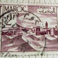 Sellos: SELLO DE MARRUECOS 1949 FORTRESS 2F. Lote 202481005