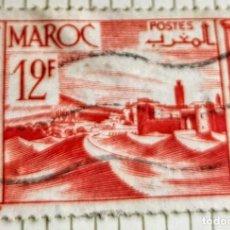 Sellos: SELLO DE MARRUECOS 1948 FORTRESS 12 F. Lote 202482152