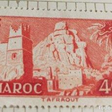 Sellos: SELLO DE MARRUECOS 1955 TAFFRAOUT VILLAGE 40F. Lote 202498292