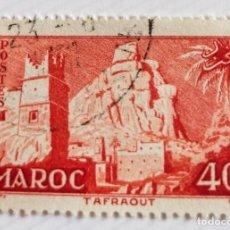 Sellos: SELLO DE MARRUECOS 1955 TAFFRAOUT VILLAGE 40F. Lote 202498353