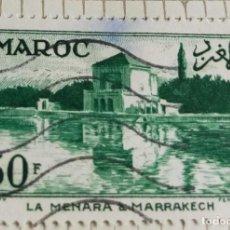 Sellos: SELLO DE MARRUECOS 1955 MENARA, MARRAKECH 30F. Lote 202498637