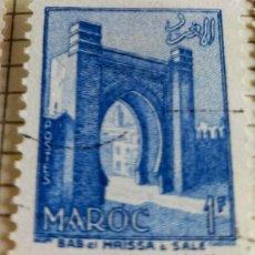 Sellos: SELLO MARRUECOS 1955 BAB EL MRISSA – SALÉ 1F. Lote 202499175