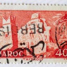 Sellos: SELLO DE MARRUECOS 1955 TAFFRAOUT VILLAGE 40F. Lote 202596060