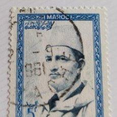 Sellos: SELLO DE MARRUECOS 1956 KING MOHAMMED V 5F. Lote 202607515