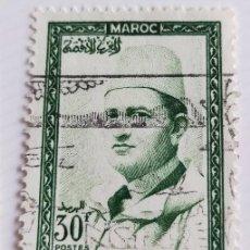 Sellos: SELLO DE MARRUECOS 1956 KING MOHAMMED V 30F. Lote 202607741