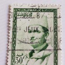 Sellos: SELLO DE MARRUECOS 1956 KING MOHAMMED V 30F. Lote 202607765