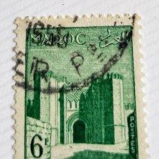 Sellos: SELLO DE MARRUECOS 1955 BAB-EL-CHORFA IN FEZ 6F. Lote 202613468
