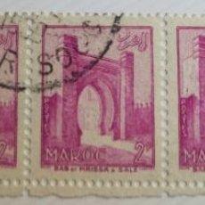 Sellos: 5 SELLOS UNIDOS DE MARRUECOS 1955 BAB EL MRISSA – SALÉ 2F. Lote 202613676