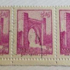 Sellos: 5 SELLOS UNIDOS DE MARRUECOS 1955 BAB EL MRISSA – SALÉ 2F. Lote 202613710