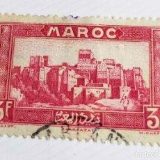 Sellos: 1 SELLO MARRUECOS 1946 UARZAZATE 3 FRANCOS MARROQUÍ. Lote 202744486