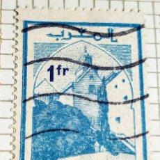 Sellos: SELLO DE MARRUECOS SEFROU DE 1.30F CON SOBRECARGA DE 1F. Lote 202745952